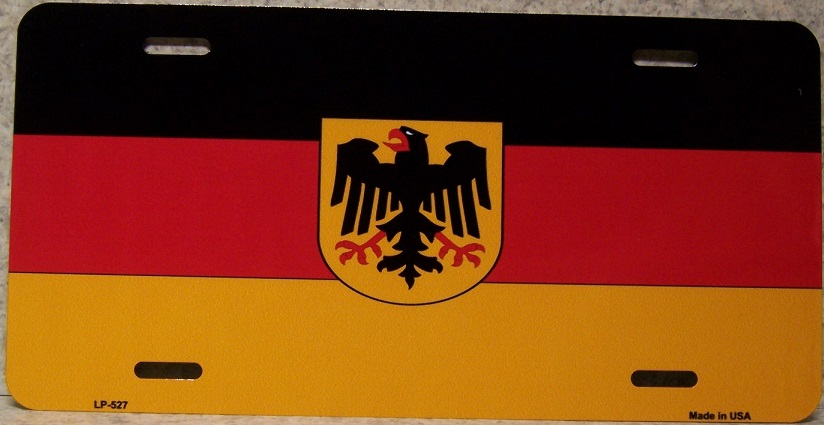 German Eagle Aluminum License Plate International Flag thumbnail