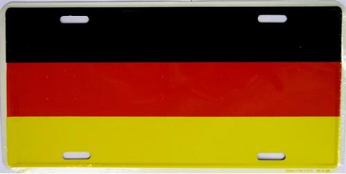 Germany Aluminum License Plate International Flag thumbnail
