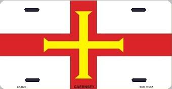 Guernsey Aluminum License Plate International Flag thumbnail
