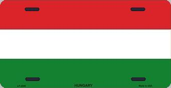 Hungary Aluminum License Plate International Flag thumbnail