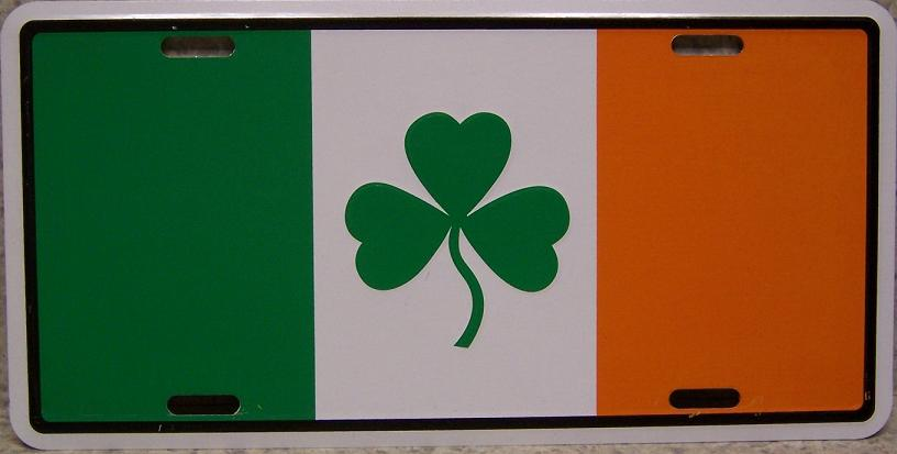 Ireland Shamrock Aluminum License Plate International Flag thumbnail