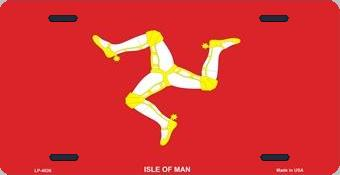 Isle of Man Aluminum License Plate International Flag thumbnail