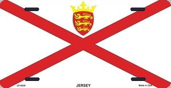 Jersey Aluminum License Plate International Flag thumbnail