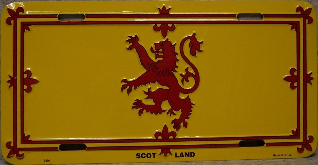King of Scotland Aluminum License Plate International Flag thumbnail