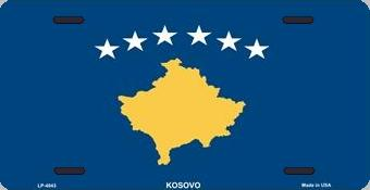Kosovo Aluminum License Plate International Flag thumbnail