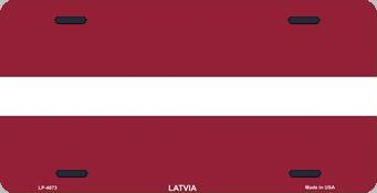 Latvia Aluminum License Plate International Flag thumbnail