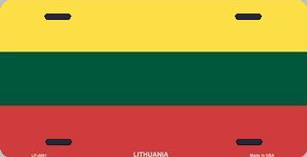 Lithuania Aluminum License Plate International Flag thumbnail