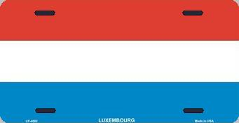Luxembourg Aluminum License Plate International Flag thumbnail