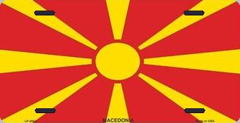 Macedonia Aluminum License Plate International Flag thumbnail
