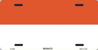 Monaco Aluminum License Plate International Flag thumbnail