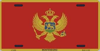 Montenegro Aluminum License Plate International Flag thumbnail