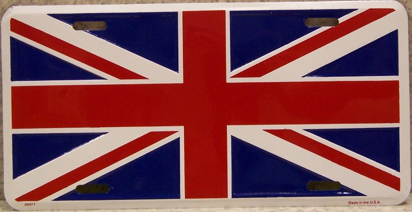 United Kingdom Aluminum License Plate International Flag thumbnail