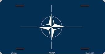 NATO Aluminum License Plate International Flag thumbnail