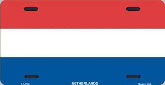 Netherlands Aluminum License Plate International Flag thumbnail