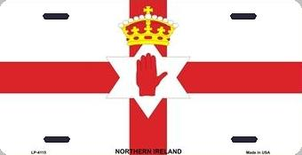 Northern Ireland Aluminum License Plate International Flag thumbnail