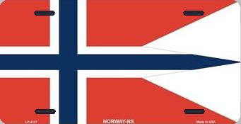 Norway State Flag Aluminum License Plate International Flag thumbnail