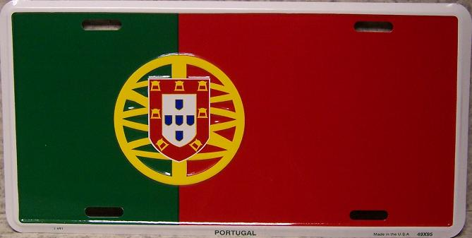 Portugal Aluminum License Plate International Flag thumbnail