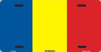 Romania Aluminum License Plate International Flag thumbnail