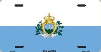 San Marino Aluminum License Plate International Flag thumbnail