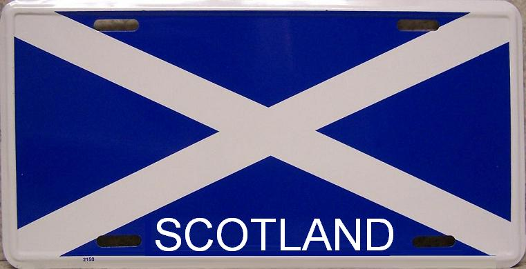 Scotland Cross of Saint Andrew Aluminum License Plate International Flag thumbnail