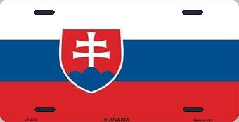 Slovakia Aluminum License Plate International Flag thumbnail
