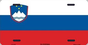Slovenia Aluminum License Plate International Flag thumbnail