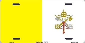 Vatican City Aluminum License Plate International Flag thumbnail