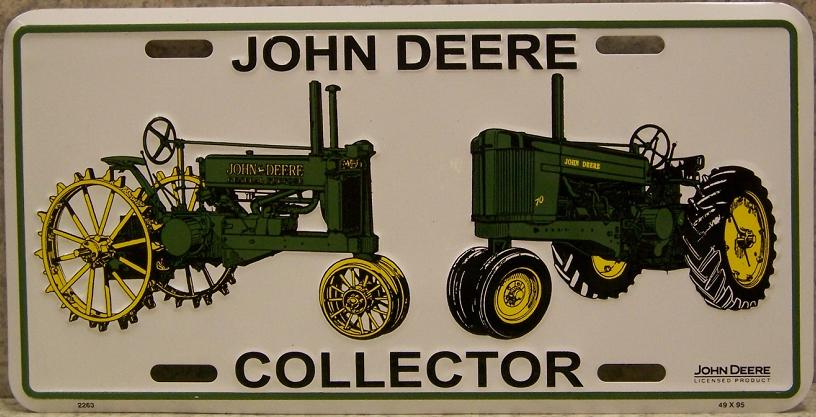 John Deere Collector Tractors Aluminum License Plate thumbnail