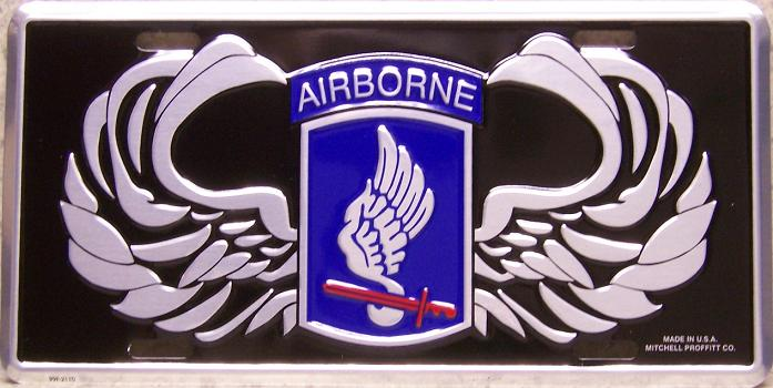 Army 173rd Airborne Aluminum Military License Plate thumbnail