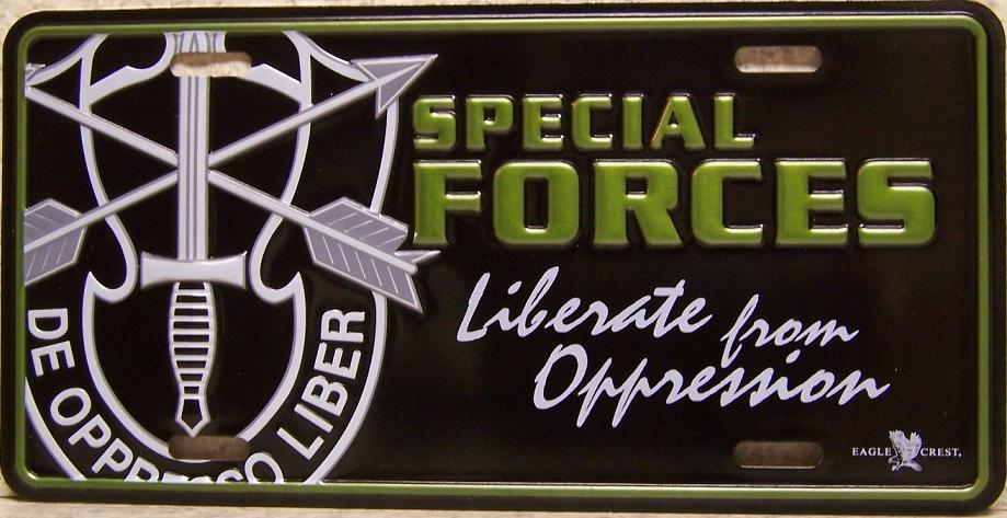Army First Special Forces Aluminum Military License Plate thumbnail