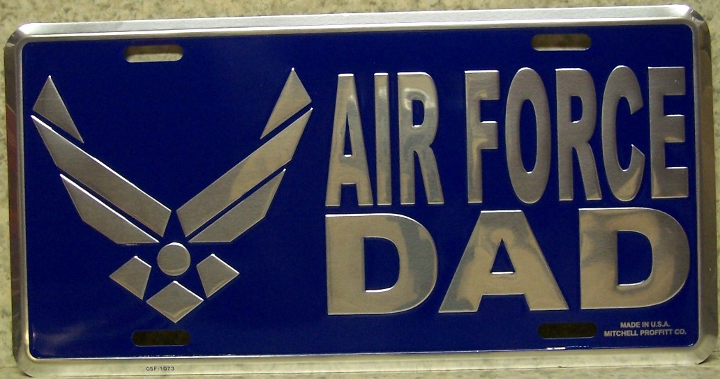 Air Force Dad Aluminum Military License Plate thumbnail