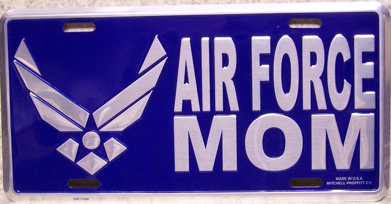 Air Force Mom Aluminum Military License Plate thumbnail