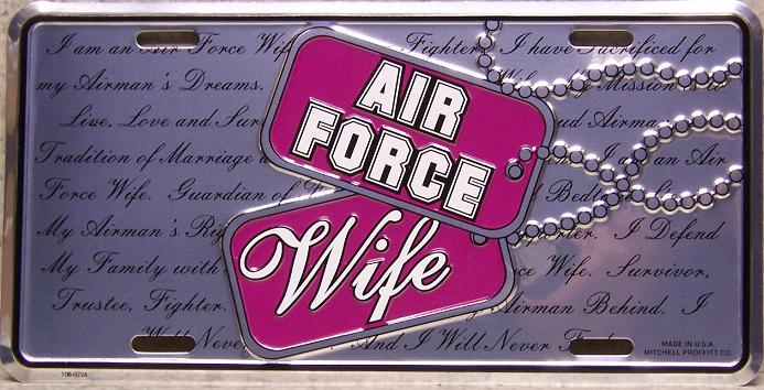 Air Force Wife Aluminum Military License Plate thumbnail