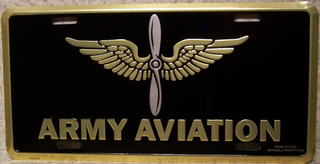 Army Aviation Aluminum Military License Plate thumbnail
