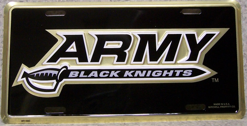 Army West Point Sword Aluminum Military License Plate thumbnail
