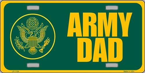 Army Dad Aluminum Military License Plate thumbnail