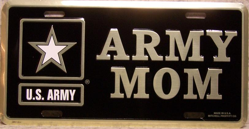 Army Mom Aluminum Military License Plate thumbnail