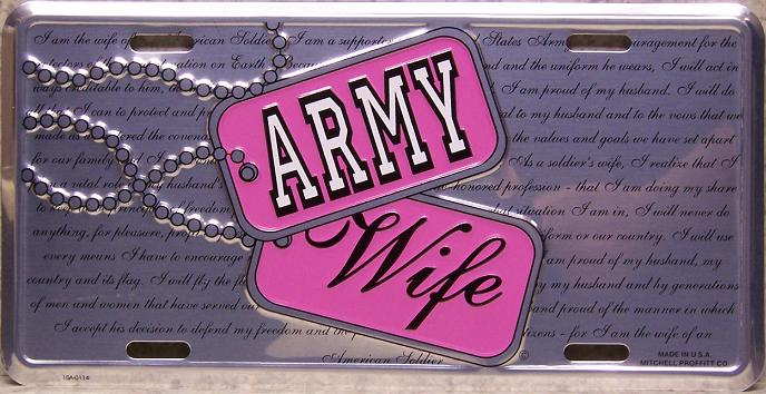 Army Wife Aluminum Military License Plate thumbnail