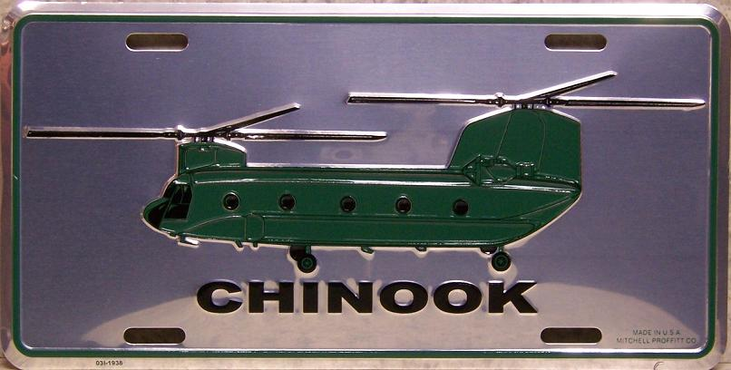 Army Chinook Helicopter Aluminum Military License Plate thumbnail