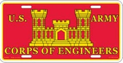 Army Corps of Engineers Aluminum Military License Plate thumbnail