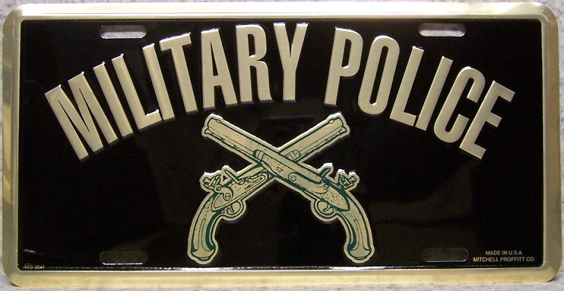 Army Military Police Aluminum Military License Plate thumbnail