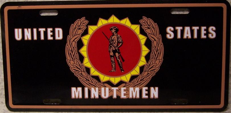 Army Minutemen Aluminum Military License Plate thumbnail