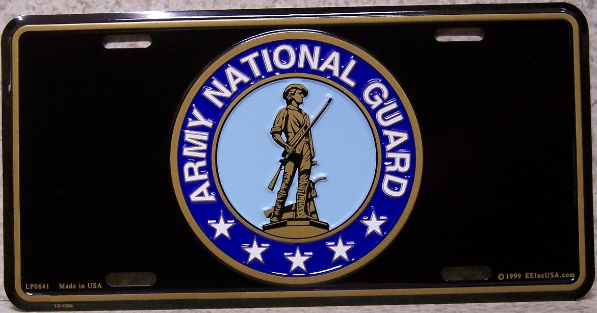Army National Guard Aluminum Military License Plate thumbnail