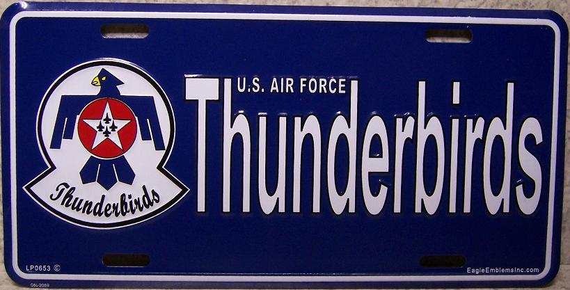 Air Force Thunderbirds Aluminum Military License Plate thumbnail