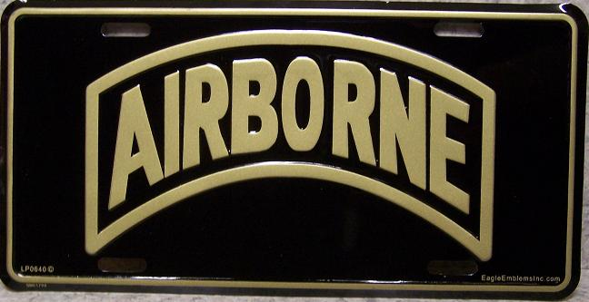 Army Airborne Aluminum Military License Plate thumbnail