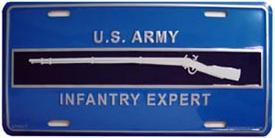 Army Infantry Expert Aluminum Military License Plate thumbnail