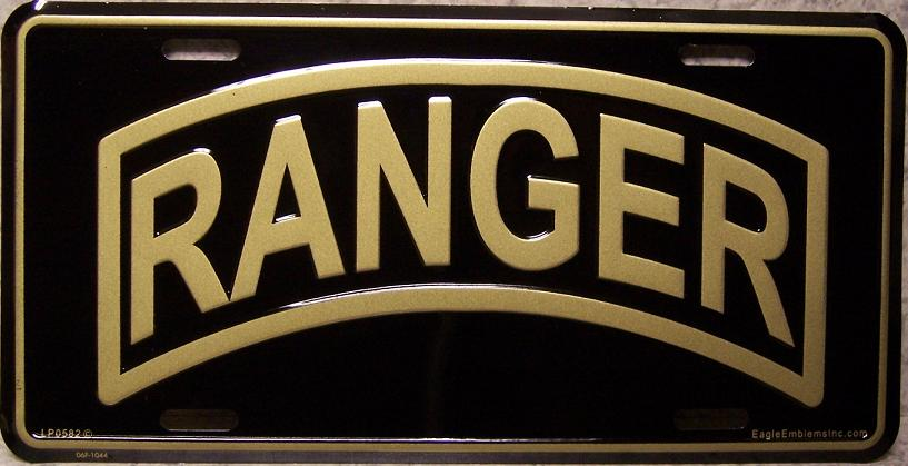Army Ranger Aluminum Military License Plate thumbnail