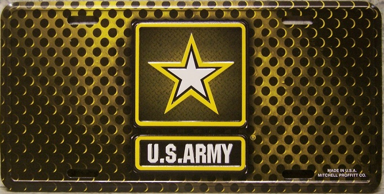 Army Aluminum Military License Plate thumbnail