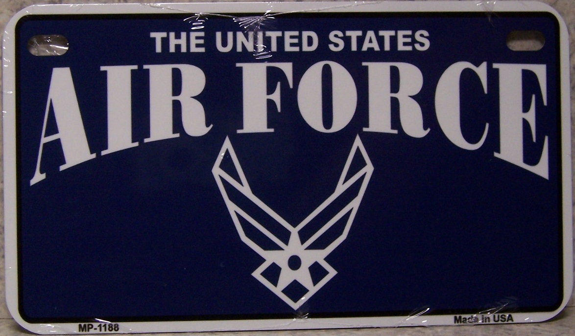 U S Air Force Aluminum Motorcycle License Plate thumbnail