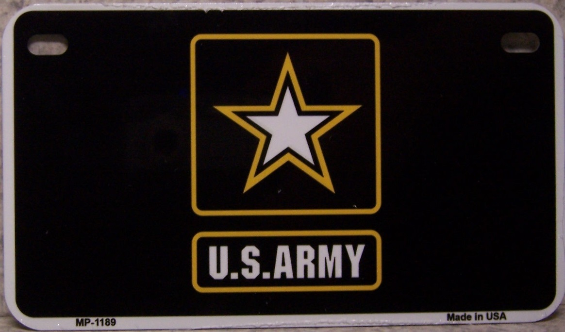 U S Army Aluminum Motorcycle License Plate thumbnail
